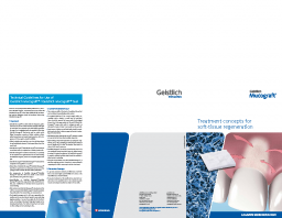 Geistlich Mucograft® – Treatment concepts for soft-tissue regeneration